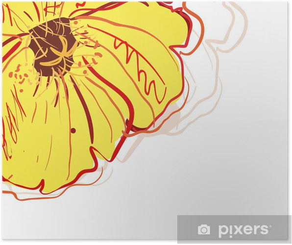 Poster Gelbe blume - Blumen