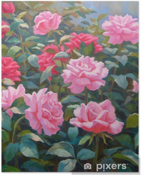 Poster Gemälde Blumen Garten Malerei Auf Leinwand Pixers