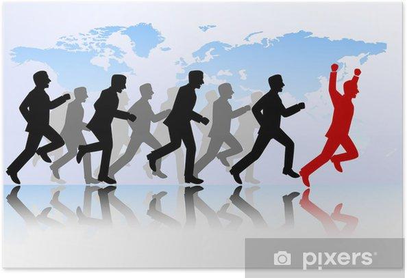 Poster Geschäftsleute Wettbewerb - Männer