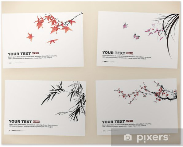 Poster Geschenkkarten - Bäume