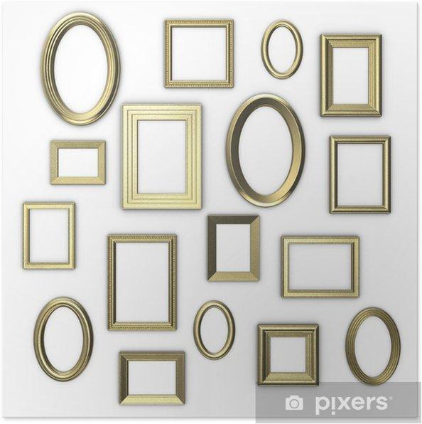 poster goldenen rahmen auf wei em hintergrund pixers wir leben um zu ver ndern. Black Bedroom Furniture Sets. Home Design Ideas