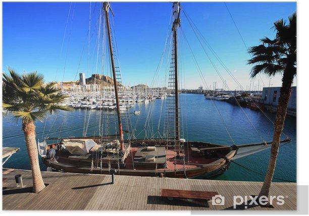 Poster Goleta en el puerto de Alicante - Urlaub
