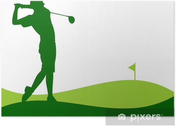 Poster Golfe - Jogador dando uma Tacada - Hintergründe
