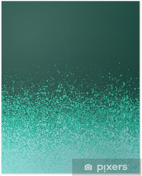 Poster Graffiti Spray Verde Menta Dipinto Sfondo Blu Sfumato