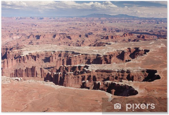 Poster Grand View Point Over in Canyonlands Nationalpark - Naturwunder