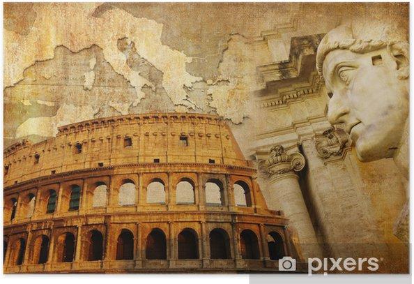 Poster Grande Impero Romano Collage Concettuale In Stile Retro Pixers Viviamo Per Il Cambiamento