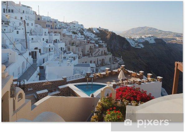 Poster Griechische Haus und Hof - Europa