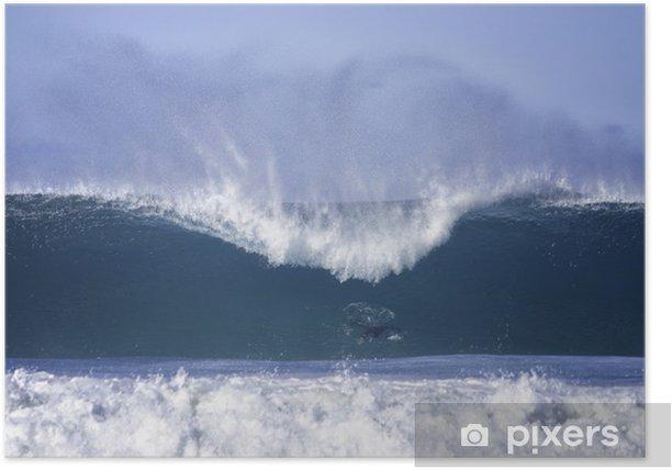Poster Große Wellen in Bondi Beach - Wasser