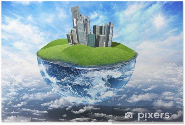 Poster Grüne Erde