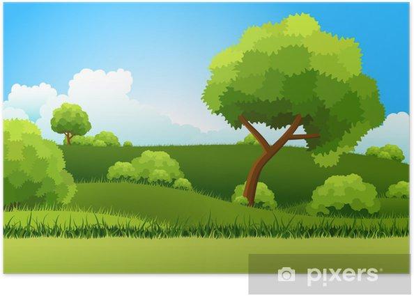Poster Grüne Hügel - Jahreszeiten
