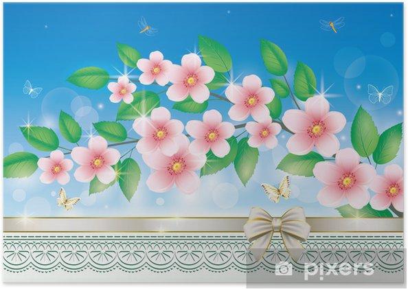 Poster Grußkarte mit Blumen - Nationale Ereignisse