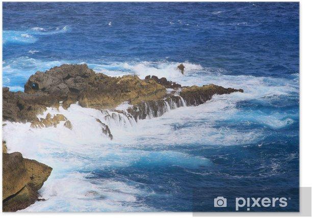 Poster Guadeloupe Küste - Pointe de La Vigie - - Amerika