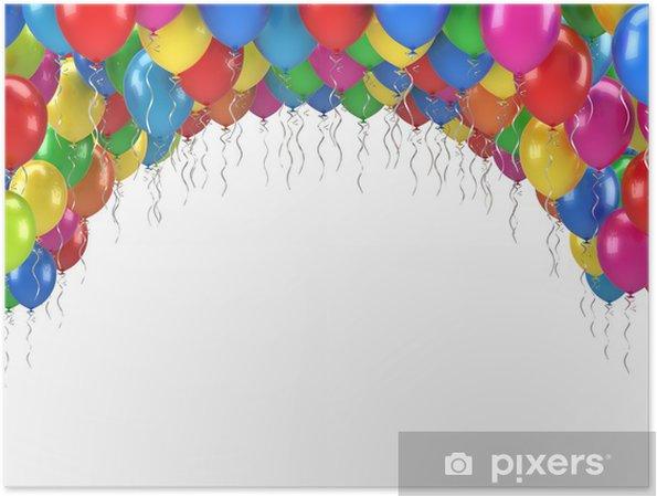 Poster Happy Birthday Balloons