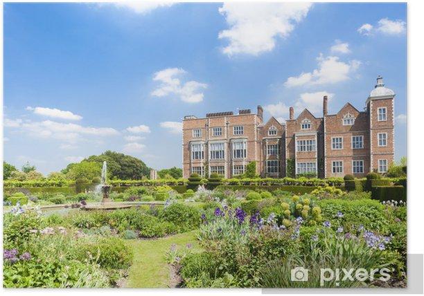Poster Hatfield House con giardino, Hertfordshire, Inghilterra - Europa