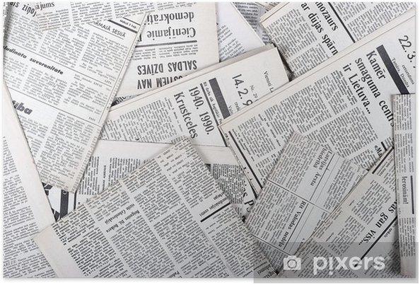 Poster Hintergrund der alten Vintage-Zeitungen • Pixers