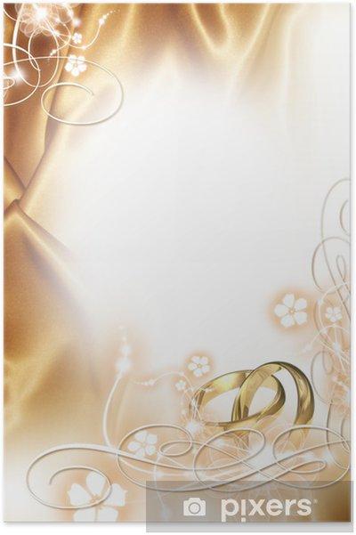 Poster Hochzeits Hintergrund Goldene Hochzeit