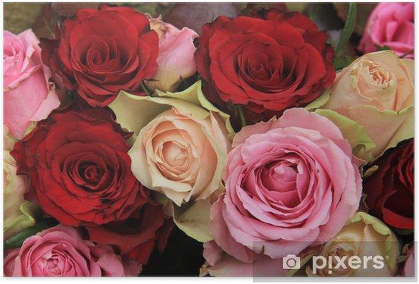Poster Hochzeitsblumen In Rosa Und Rot Pixers Wir Leben Um Zu