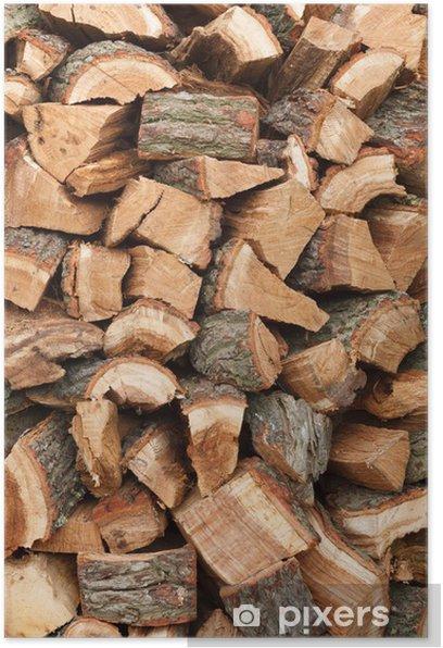 Poster Holzstapel - Texturen