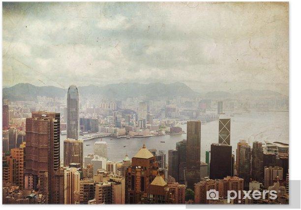 Poster Hong Kong Insel - Asiatische Städte