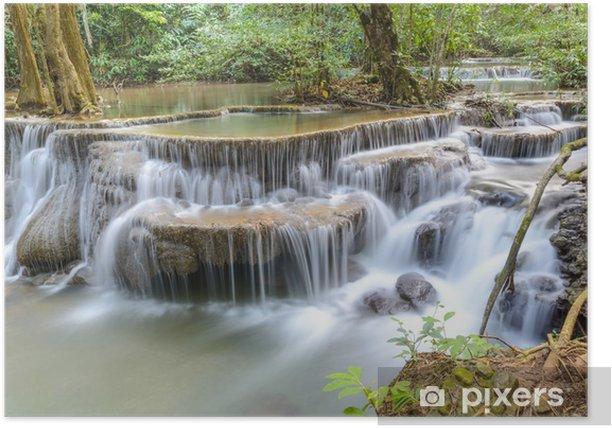 Poster Huay Mae Kamin Wasserfall in der Provinz Kanchanaburi, Thailand - Themen