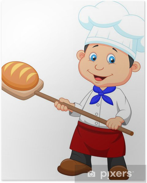 Poster Illustrazione di un panettiere con pane • Pixers® - Viviamo ... eefc478ebe80