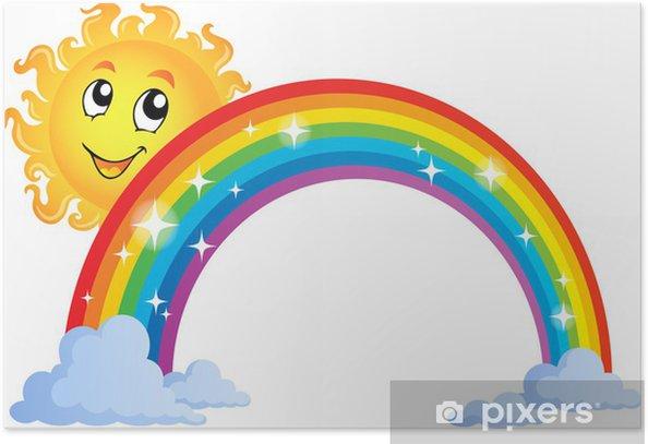 Poster Immagine con arcobaleno tema 8 - Sfondi