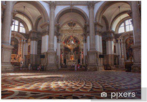 Poster Innenansicht der Kirche Santa Maria della Salute, Venedig - Europa
