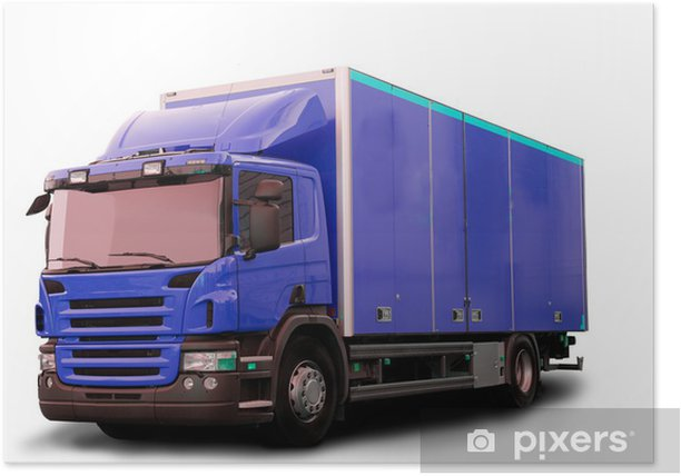 Poster Isolated Tractor Truck - Straßenverkehr