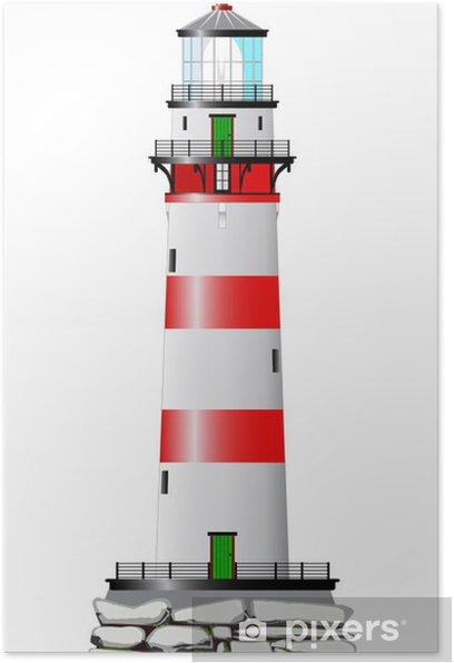 Poster Isolierte Leuchtturm - Infrastruktur
