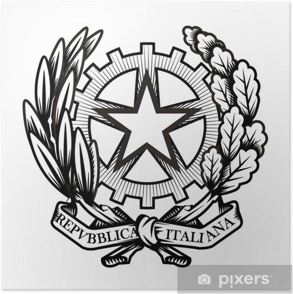 Poster Italien Wappen Vektor Format