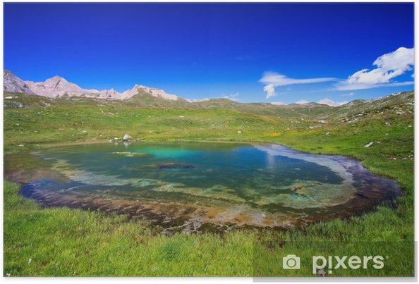 Poster Italienischen Alpen .... Hohe Pomatt - Europa