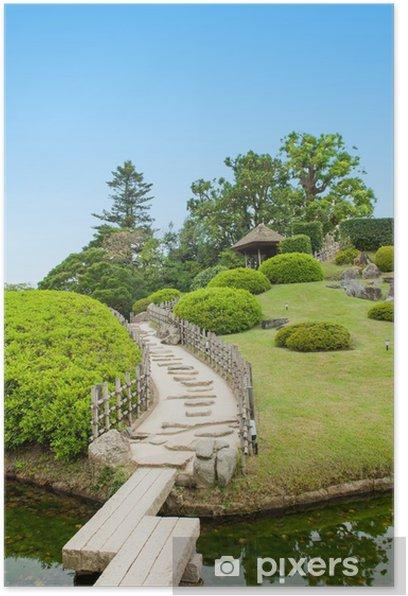 Poster Japanese garden - Asien