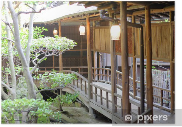 Poster Japanische Häuser - Asien