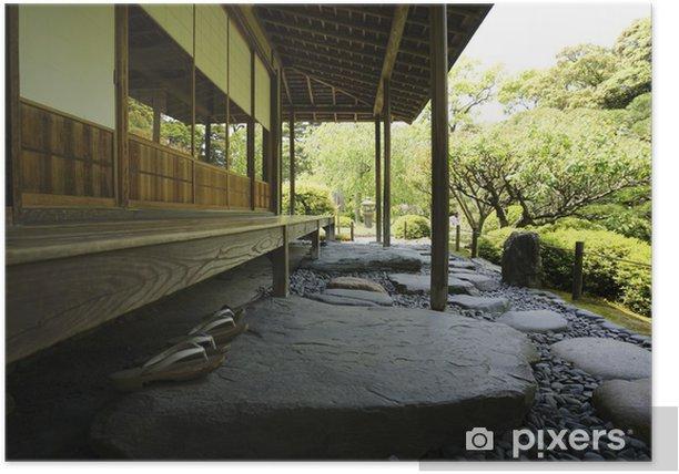 Poster Japanische Häuser - Haus und Garten