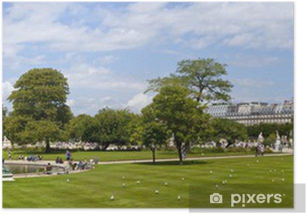 Poster Jardin Tuileries in Paris - Europäische Städte