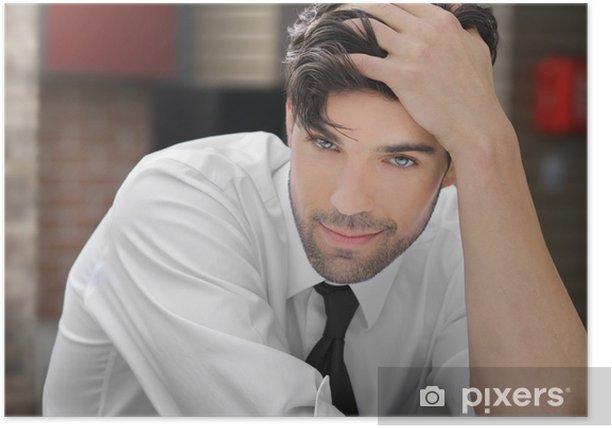 Poster Junge schöner Mann - Beauty und Körperpflege