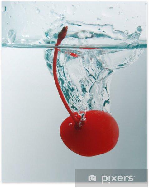 Poster Kirsche splash - Alkohol