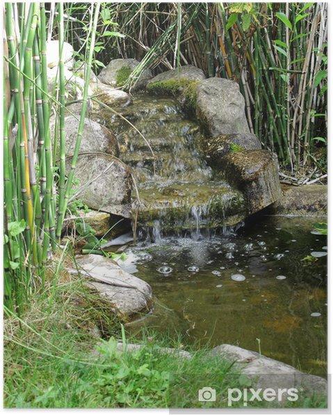 Poster Kleine Quelle Von Wasser Garten