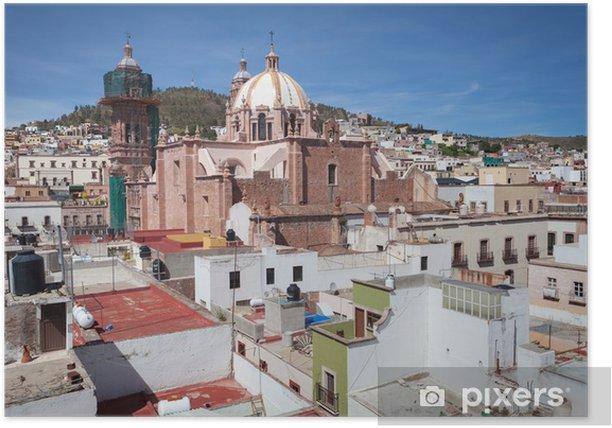 Poster Kolonialstadt Zacatecas, Mexiko - Amerika