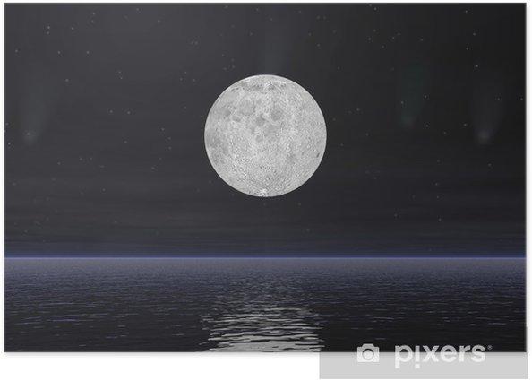 Poster Kometen und Vollmond - 3D übertragen - Themen