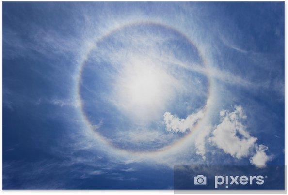 Poster Kreisregenbogen um Sonne - Himmel