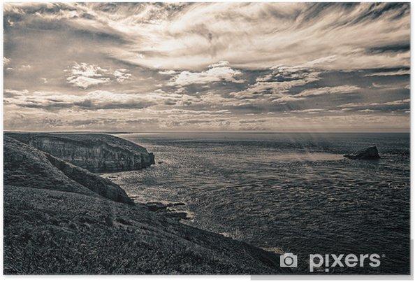 Poster Küstenstadt Cancale - Wasser