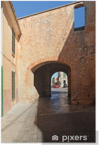 Poster La Porte Murée (Porta Murada) à à Mallorca Santanyí - Europa