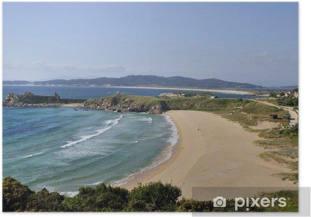 Poster Landschaft der südlichen Stränden der Rias Baixas, Spanien - Urlaub