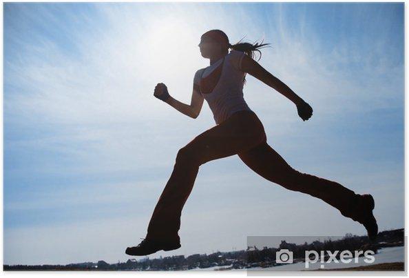 Poster Läufer-Silhouette - Themen