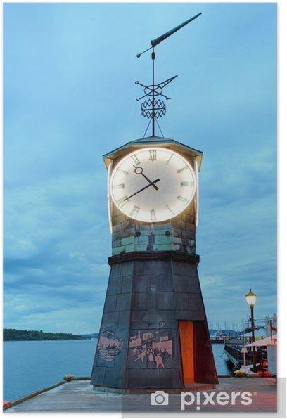 Poster Lighthouse in Oslo embakment - Europäische Städte