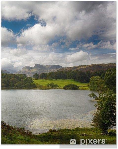 Poster Loughrigg Tarn nel Lake District - Europa