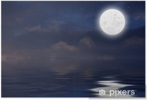Poster Luna Sul Mare Pixers Wir Leben Um Zu Verändern