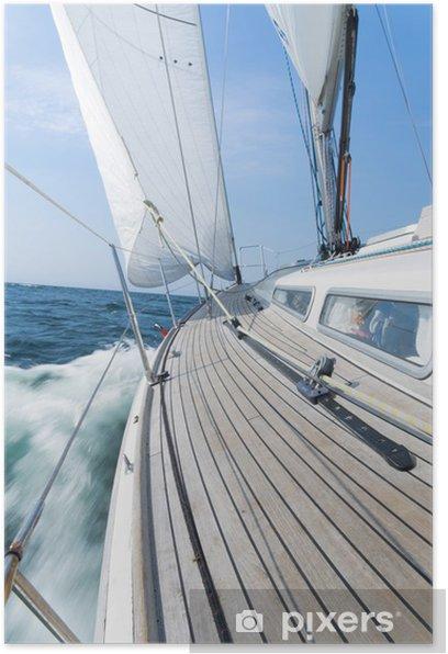 Poster Luxus-Segelyacht - Boote