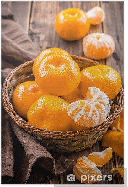 Poster Mandarinen - Früchte